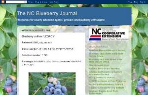 The N.C. Blueberry Journal screen shot