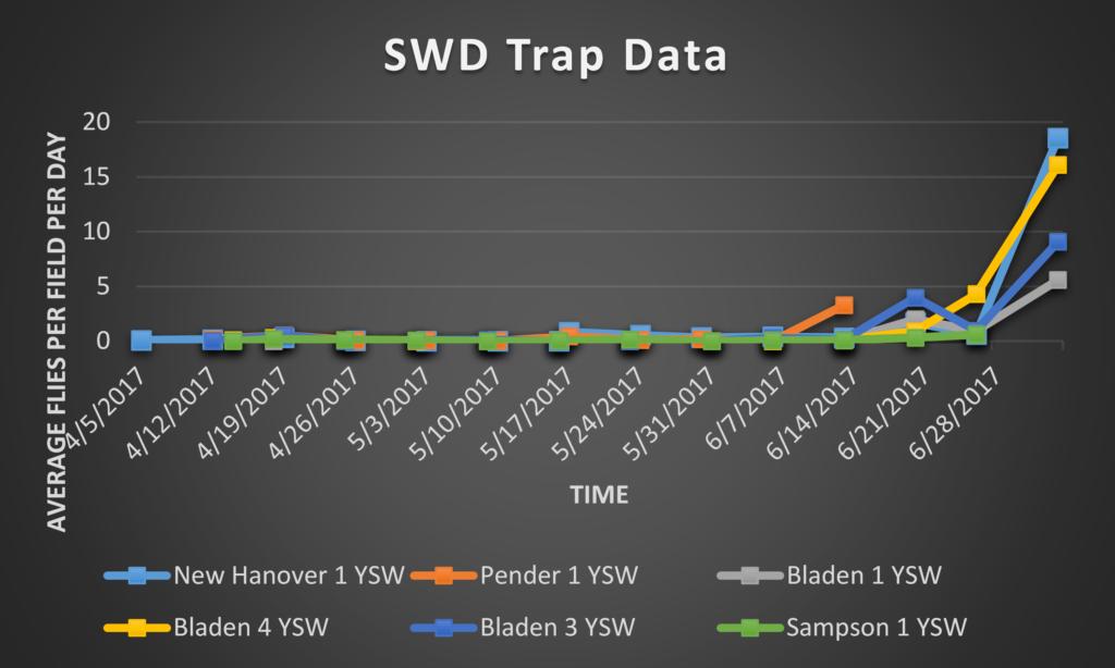 Spotted Wing Drosophila trap data 8/4/17
